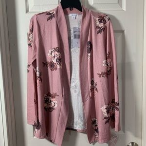 NWOT Eye shadow Open Rose Cardigan